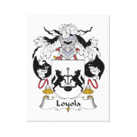 Escudo de la familia de Loyola Impresión En Lienzo Estirada