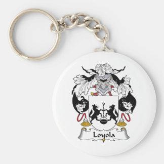 Escudo de la familia de Loyola Llavero Redondo Tipo Pin