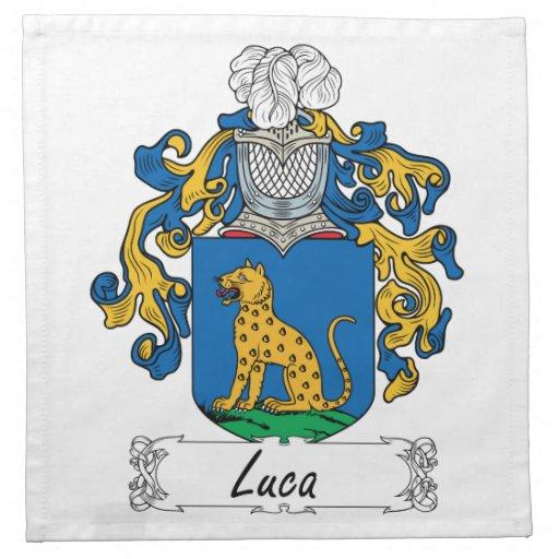 Escudo de la familia de Luca Servilleta De Papel