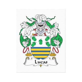 Escudo de la familia de Lucas Impresiones En Lona Estiradas