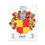 Escudo de la familia de Lucio Lienzo Envuelto Para Galerias