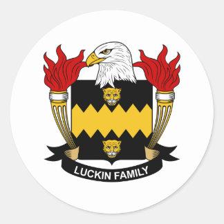 Escudo de la familia de Luckin Pegatina