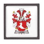Escudo de la familia de Ludke Cajas De Regalo De Calidad