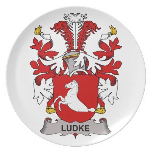 Escudo de la familia de Ludke Plato Para Fiesta