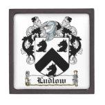 Escudo de la familia de Ludlow Caja De Recuerdo De Calidad