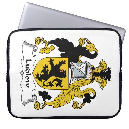 Escudo de la familia de Ludlow Manga Portátil