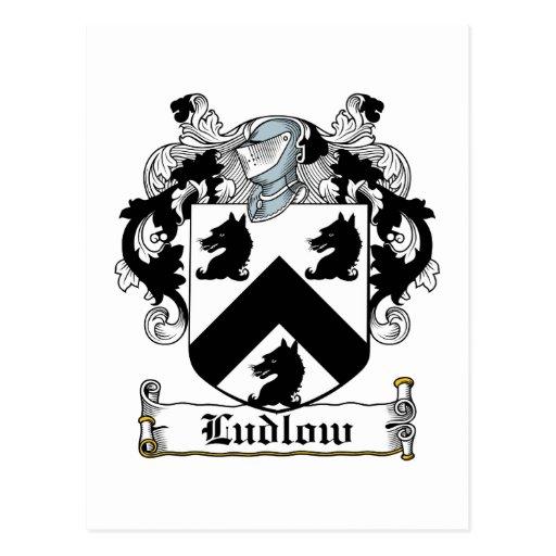 Escudo de la familia de Ludlow Postal