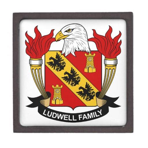 Escudo de la familia de Ludwell Cajas De Regalo De Calidad