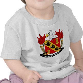 Escudo de la familia de Ludwell Camisetas