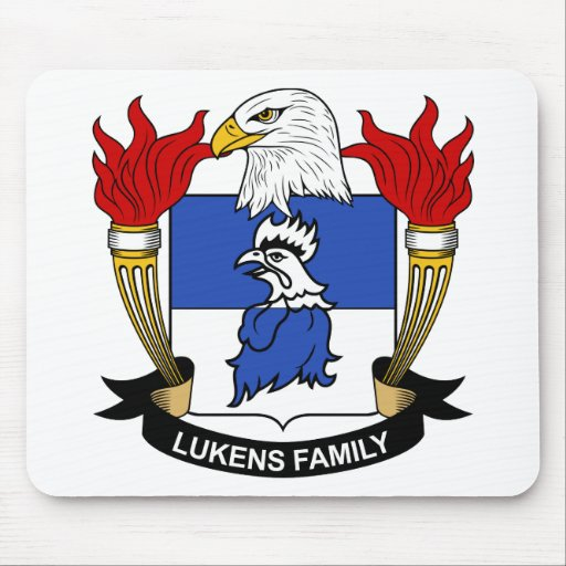 Escudo de la familia de Lukens Alfombrilla De Ratones