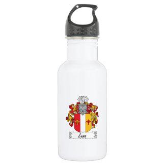 Escudo de la familia de Luna Botella De Agua