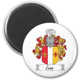 Escudo de la familia de Luna Imán Redondo 5 Cm