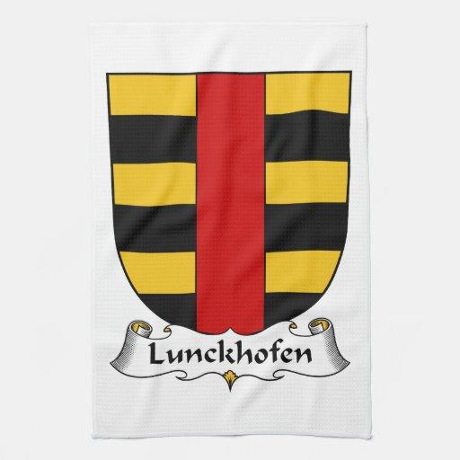 Escudo de la familia de Lunckhofen Toallas De Cocina