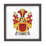 Escudo de la familia de Lund Cajas De Regalo De Calidad