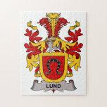 Escudo de la familia de Lund Puzzle Con Fotos