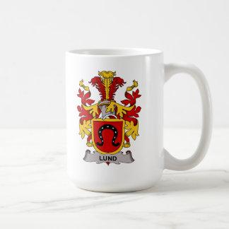 Escudo de la familia de Lund Taza De Café