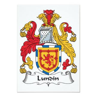 """Escudo de la familia de Lundin Invitación 5"""" X 7"""""""