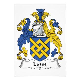 Escudo de la familia de Lunn Invitación