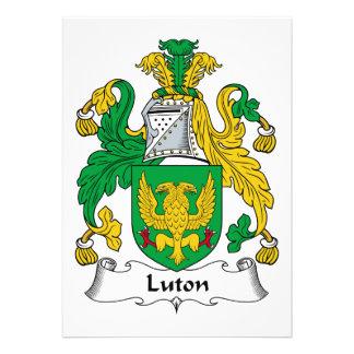 Escudo de la familia de Luton Comunicado