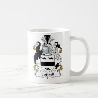 Escudo de la familia de Luttrell Taza Básica Blanca