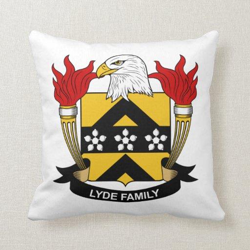 Escudo de la familia de Lyde Cojín