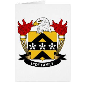 Escudo de la familia de Lyde Tarjeta De Felicitación