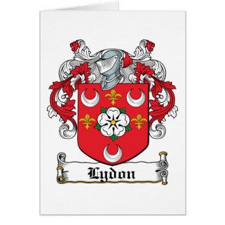 Escudo de la familia de Lydon Felicitación