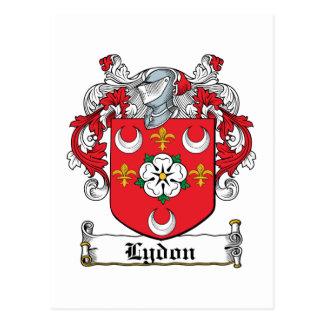 Escudo de la familia de Lydon Tarjetas Postales