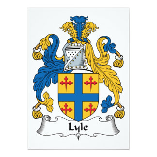 """Escudo de la familia de Lyle Invitación 5"""" X 7"""""""
