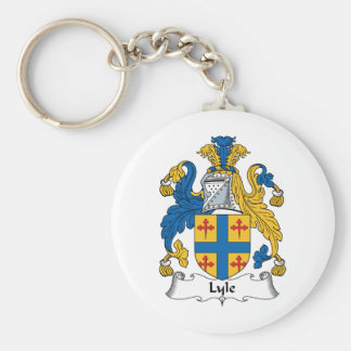 Escudo de la familia de Lyle Llavero Redondo Tipo Pin