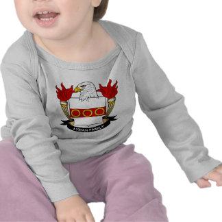 Escudo de la familia de Lyman Camisetas