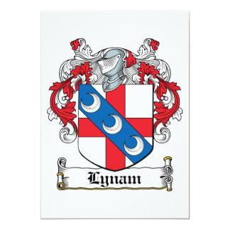Escudo de la familia de Lynam Invitación 12,7 X 17,8 Cm