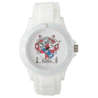 Escudo de la familia de Lynam Reloj