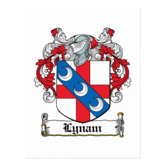 Escudo de la familia de Lynam Postal