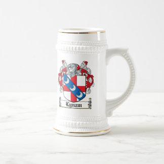 Escudo de la familia de Lynam Tazas De Café