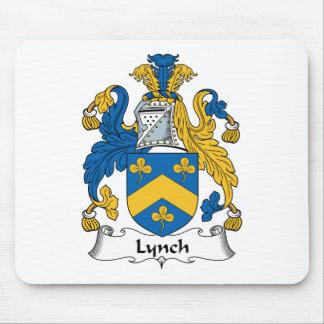 Escudo de la familia de Lynch Alfombrillas De Ratón