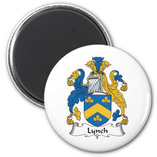 Escudo de la familia de Lynch Imán Redondo 5 Cm