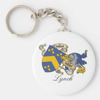 Escudo de la familia de Lynch Llavero Redondo Tipo Pin