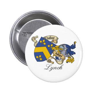 Escudo de la familia de Lynch Pin Redondo De 2 Pulgadas