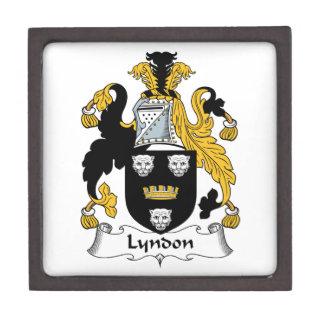 Escudo de la familia de Lyndon Caja De Joyas De Calidad