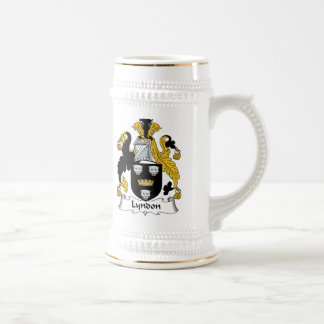 Escudo de la familia de Lyndon Jarra De Cerveza