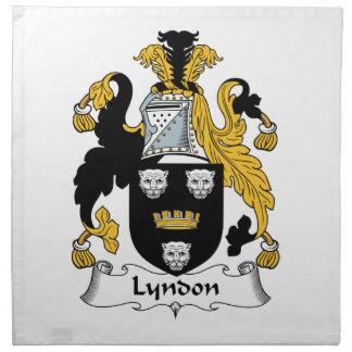 Escudo de la familia de Lyndon Servilleta De Papel
