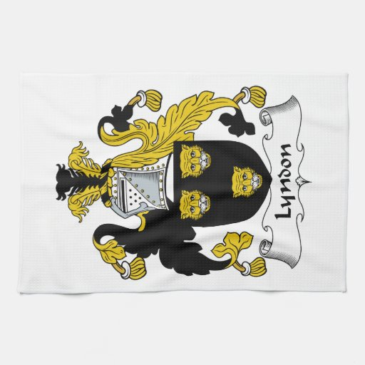 Escudo de la familia de Lyndon Toalla De Mano