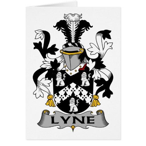 Escudo de la familia de Lyne Tarjeta De Felicitación