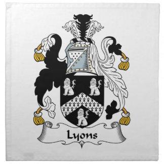 Escudo de la familia de Lyon Servilletas Imprimidas