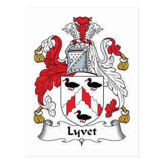Escudo de la familia de Lyvet Tarjeta Postal