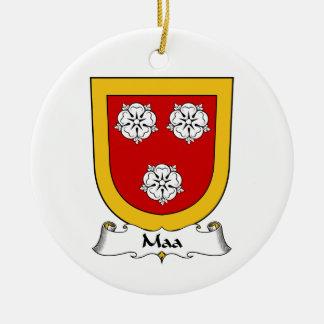 Escudo de la familia de Maa Adorno Redondo De Cerámica