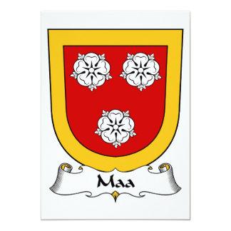 Escudo de la familia de Maa Invitación 12,7 X 17,8 Cm