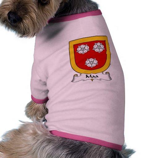 Escudo de la familia de Maa Camiseta Con Mangas Para Perro