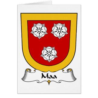 Escudo de la familia de Maa Felicitación
